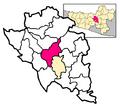 Locator Kecamatan Tuntang di Kabupaten Semarang
