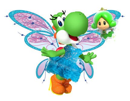 File:Yoshi and green sprixie.PNG