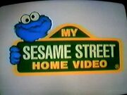Cookie Monster eating the My Sesame Street Home Video Logo