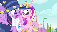 Twilight and Cadance surprised S4E11