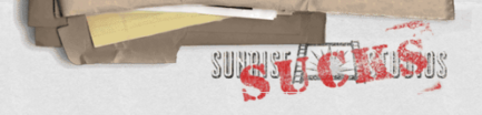 Sunrise Sucks logo