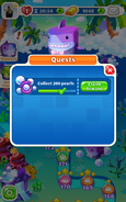 Quests Collect 200 pearls Claim Rewards