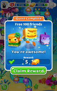 Quests Free 100 friends completed