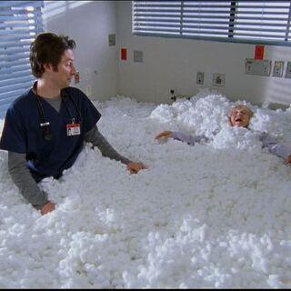 A room full of cottonballs.