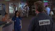 8x12 Sunny talks to Janitor