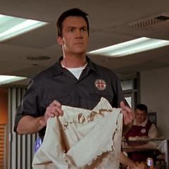 Janitor's empty rat sack