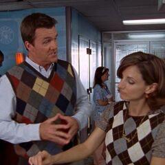 Argyle sweater-vest <span style=