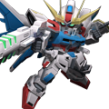 Unit as build strike gundam full package enhanced beam rifle