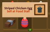 Striped chicken egg