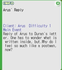 Arus' Reply
