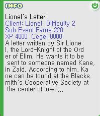 Lionel's Letter