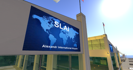 SLAI logo, main terminal building (07-14)