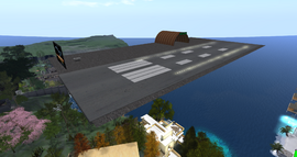 Pirate Bay Airport, looking SW (01-15)