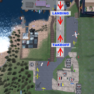 Talakin Airport Detailed Map