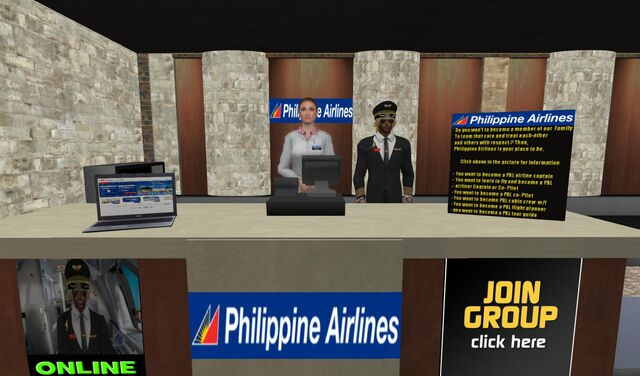 File:Philippine Airlines check-in and info booth at Cheerport Airport-Marina 04 001.jpg