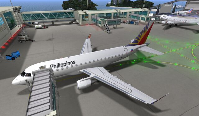 File:Philippine Airlines at bridge at Seychelles Isles National Airport 01 001.jpg
