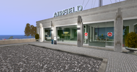 Brook Hill Airfield Terminal, looking SE (10-14)