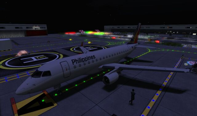 File:Philippine Airlines at first perfect landing at home Airport SLGR at night 01 001.jpg