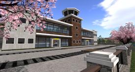 Juneau Regional Airport terminal exterior (10-14)