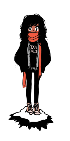 File:SECONDS Tumblr Promo Unknown Female Character Layered Dark Clothes and Scarf.png
