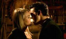 Adam and Cassie's kiss