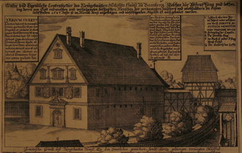 Malefiz house - from original copper engraving