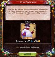 Living Snowman