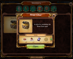 Pirate Chest in Inventory