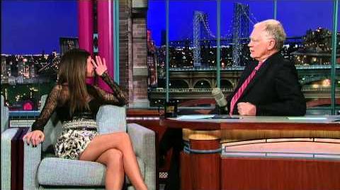 David Letterman - Selena Gomez & Justin Bieber
