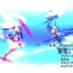 Kirika against Shirabe