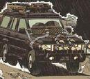 Le Land Rover 4x4 noir du père d' Yvan