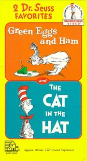 2 Dr. Seuss Favorites- Green Eggs and Ham and The Cat in the Hat VHS cover
