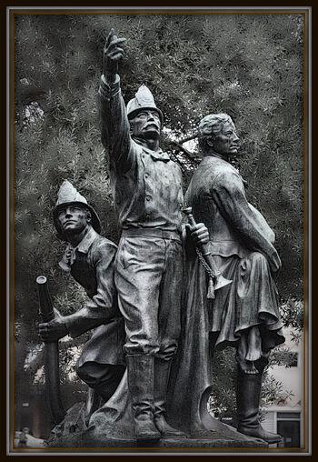 Volunteer Fire Department Statue