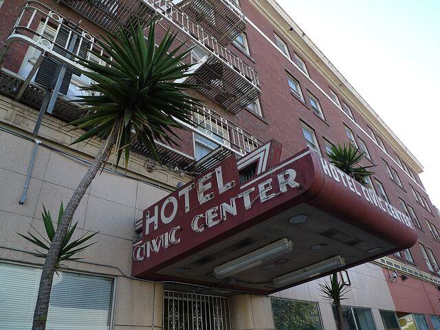 File:Civic Center Hotel entrance.jpg