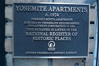 Yosemite Apartments historical marker