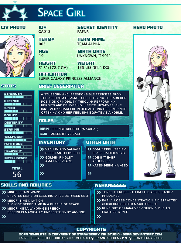 SGPA TEMPLATE SPACEGIRL