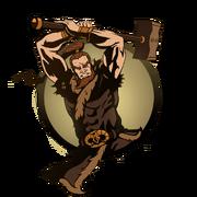 Man heavy hammer
