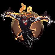 Ascension2 ninja man crescent knives