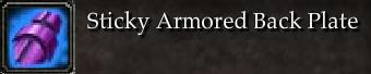 Sticky Armored Back Plate