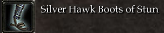 Silver Hawk Boots of Stun