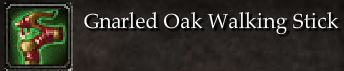 Gnarled Oak Walking Stick