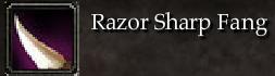 Razor Sharp Fang