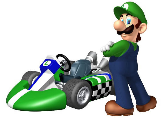 File:Luigi and his Kart.png