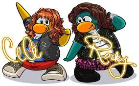 Cece and Rock's club penguins