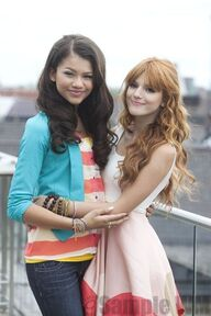 97336 Preppie Bella Thorne and Zendaya Coleman posing for a photo shoot on a hotel in Munich 12 122 594lo
