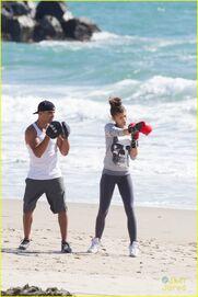 Zendaya-coleman-boxing-on-the-beach