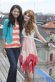 91276 Preppie Bella Thorne and Zendaya Coleman posing for a photo shoot on a hotel in Munich 16 122 131lo