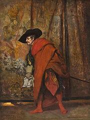 Jehan-Georges Vibert - Polonius behind the curtain