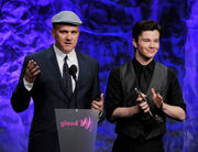 Mike O Malley Chris Colfer 22nd Annual GLAAD ZFQ0AB9blRBl