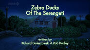 Zebra Ducks of the Serengeti title card